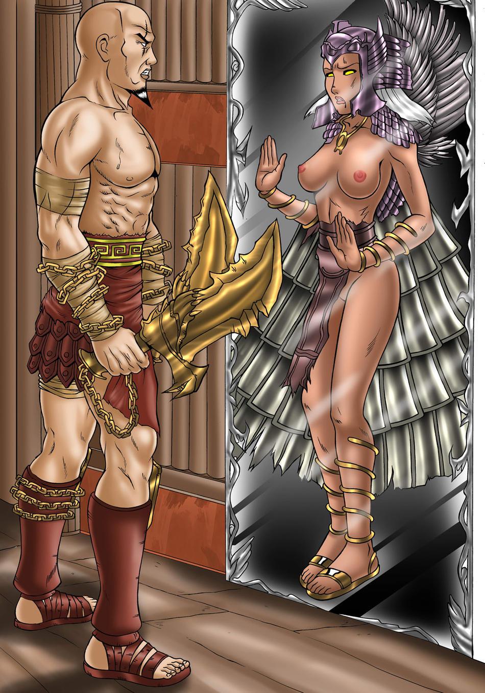god of pandora 3 war Harley quinn arkham asylum nude