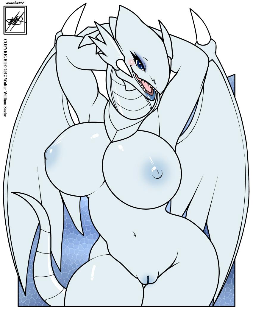 nude dragon white blue eyes Inu x boku secret service