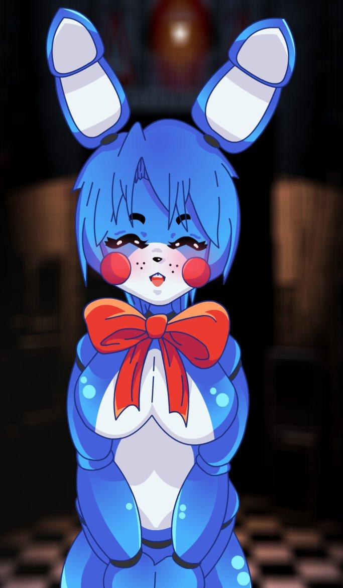 nights toy anime bonnie five at Doki doki literature club monika bikini